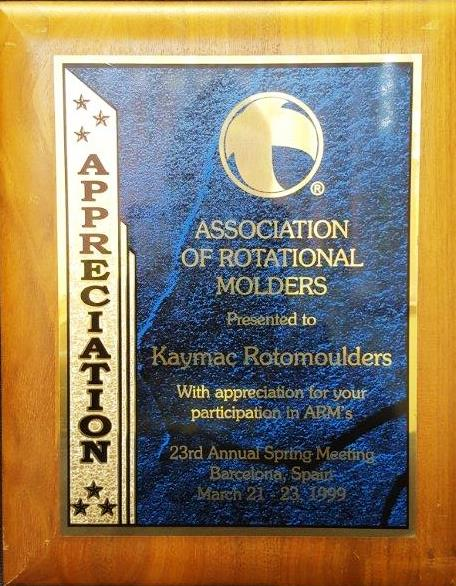 1999 – Association of Rotational Moulders – United States Of America